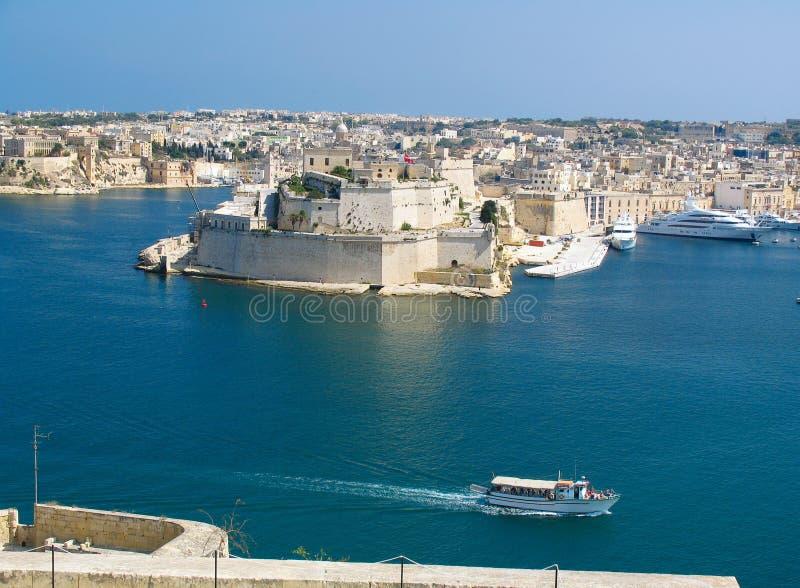 Porto grande, valletta, capital de Malta imagem de stock royalty free