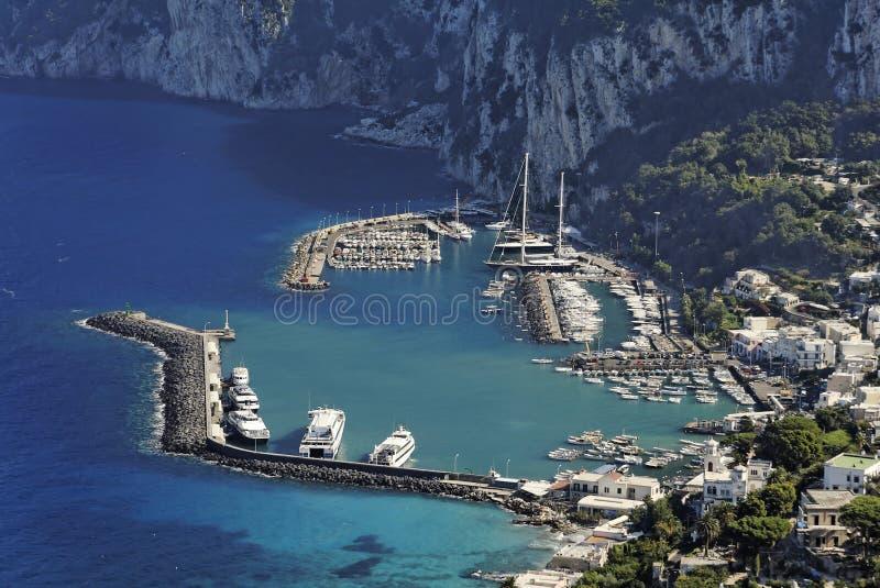 Porto grandioso - Capri imagens de stock