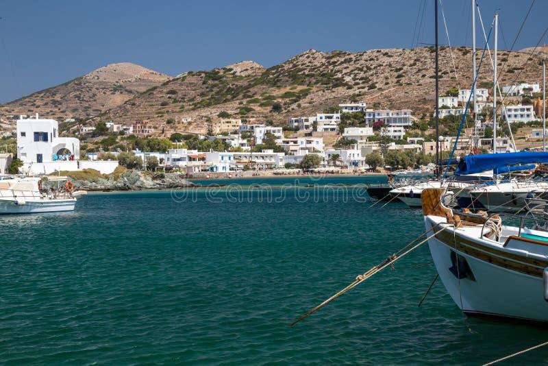 Porto greco fotografie stock libere da diritti