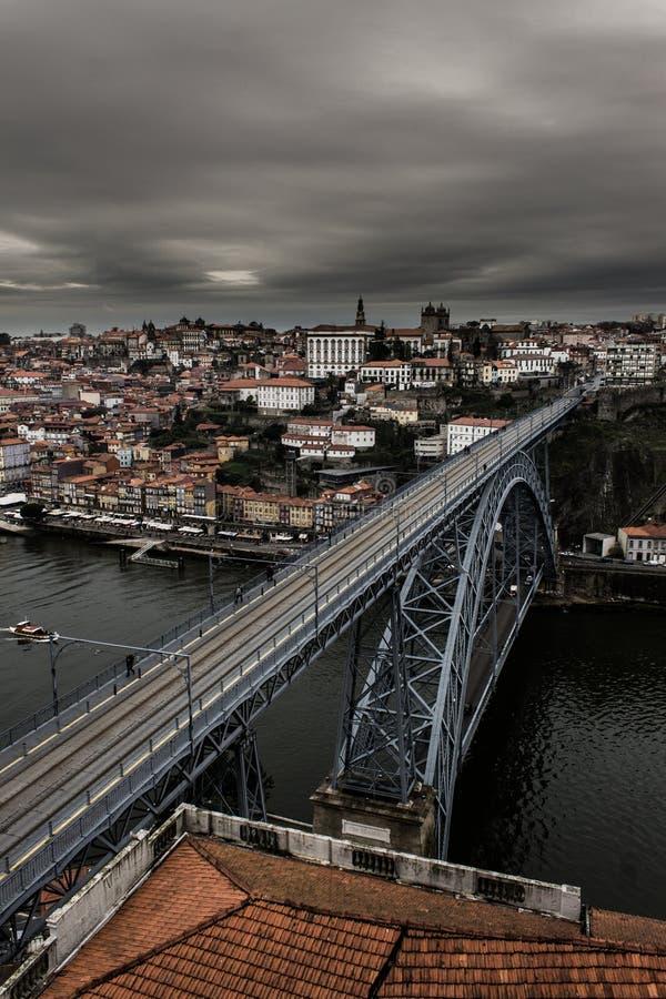 Porto Grey Cityscape royalty-vrije stock foto