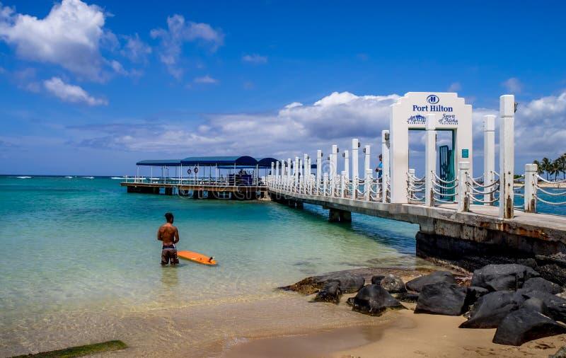 Porto Hilton Pier fotografia stock libera da diritti