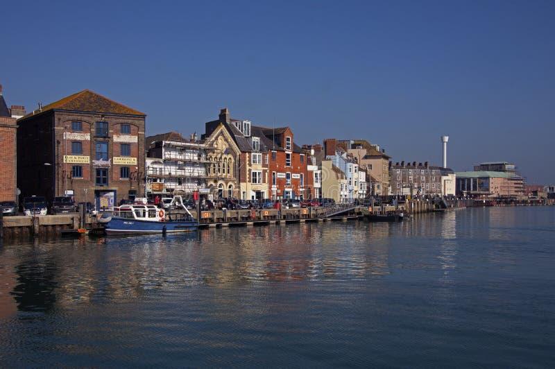 Porto histórico Dorset Inglaterra de Weymouth imagem de stock royalty free
