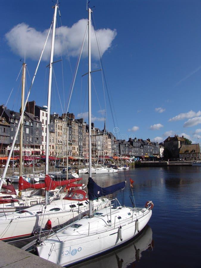 Porto in Honfleur immagini stock libere da diritti