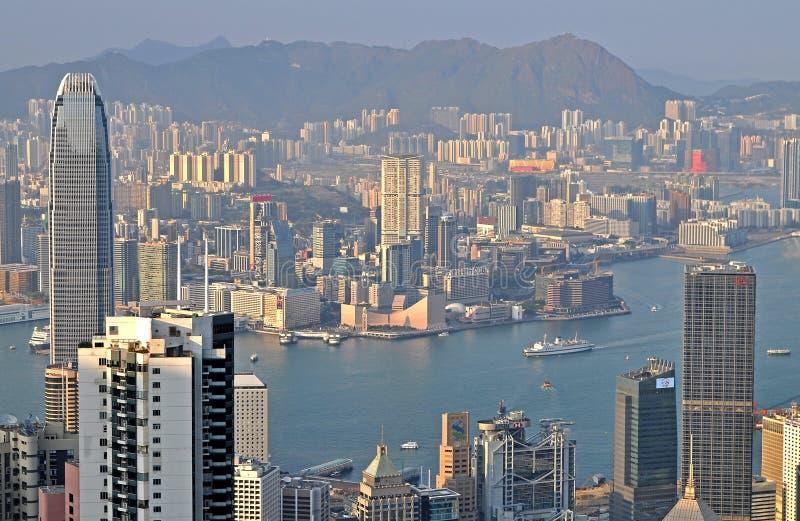 Porto Hong Kong de Victoria fotografia de stock