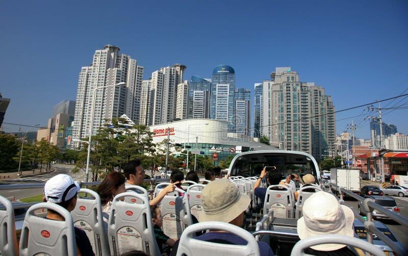 Porto industrial de Busan Coreia do Sul imagem de stock