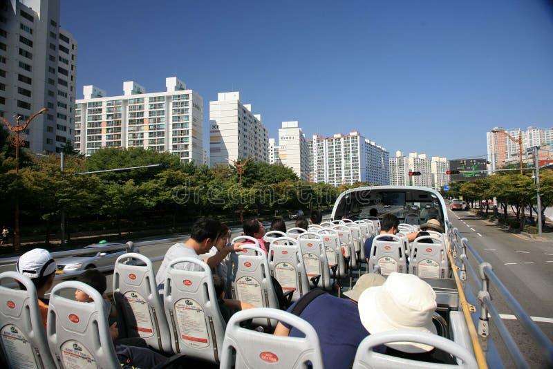 Porto industrial de Busan Coreia do Sul fotografia de stock