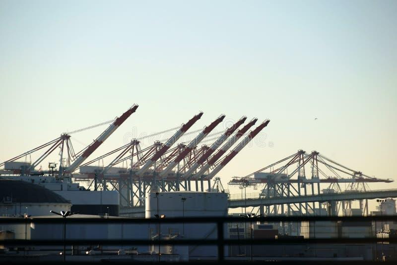 Porto industrial Los Angeles imagem de stock royalty free