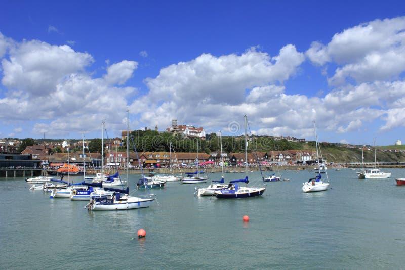 Porto Inglaterra de Folkestone fotos de stock royalty free
