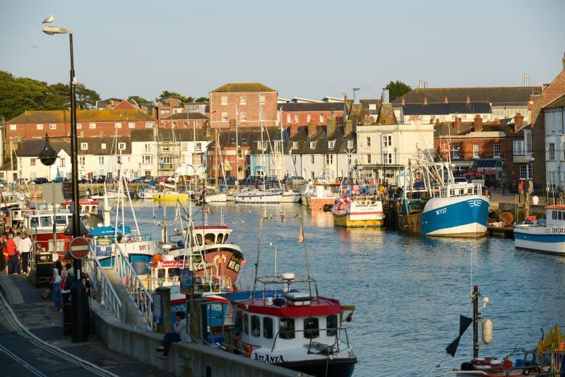 Porto Inglaterra de Weymouth imagem de stock