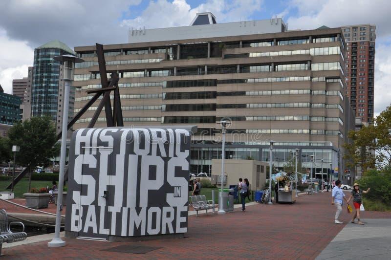 Porto interno a Baltimora, Maryland immagine stock