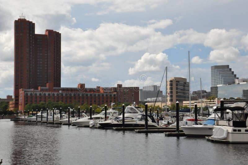 Porto interno a Baltimora, Maryland fotografia stock libera da diritti