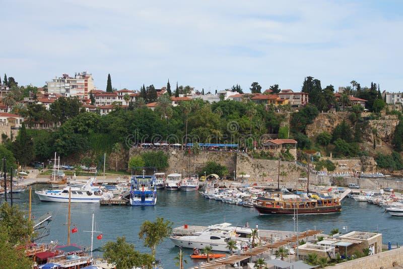 Porto interno con le barche fotografia stock libera da diritti