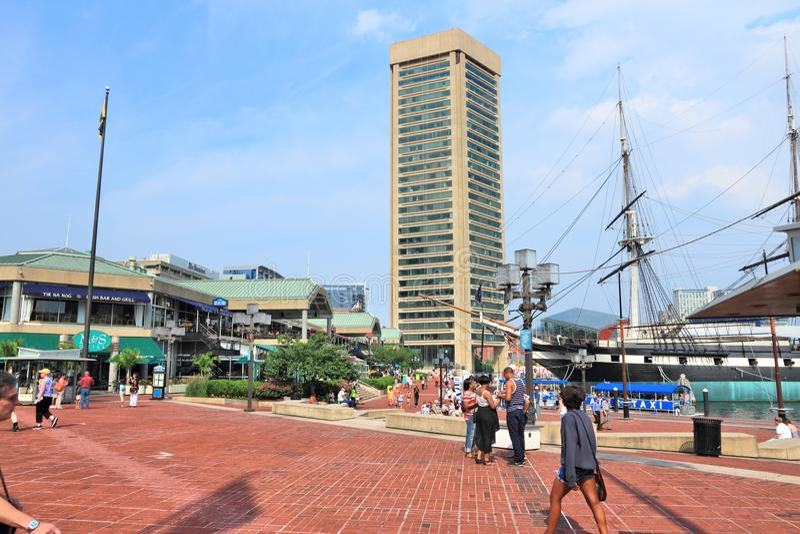 Porto interno de Baltimore fotografia de stock