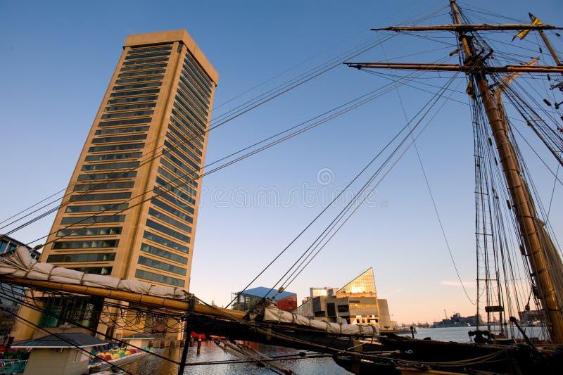 Porto interno di Baltimora fotografie stock libere da diritti