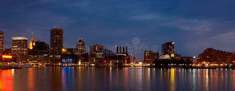 Porto interno di Baltimora (panoramico) immagini stock