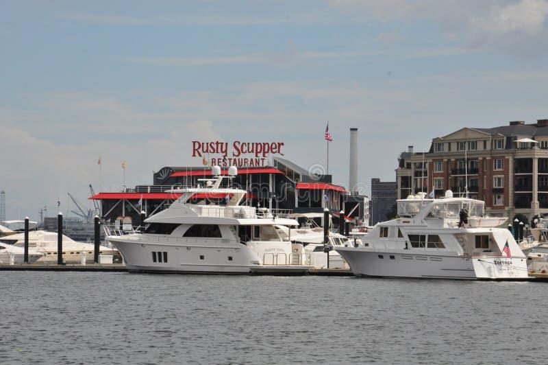 Porto interno em Baltimore, Maryland imagem de stock