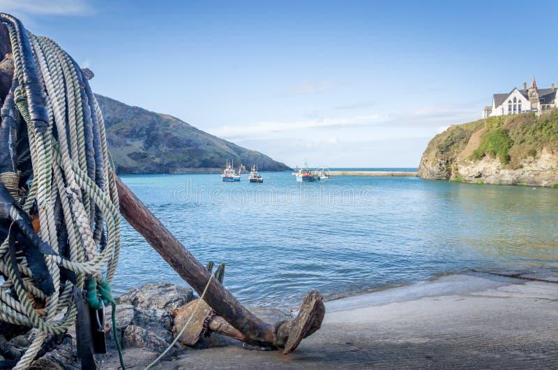 Porto Isaac in Cornovaglia Inghilterra Regno Unito fotografie stock libere da diritti