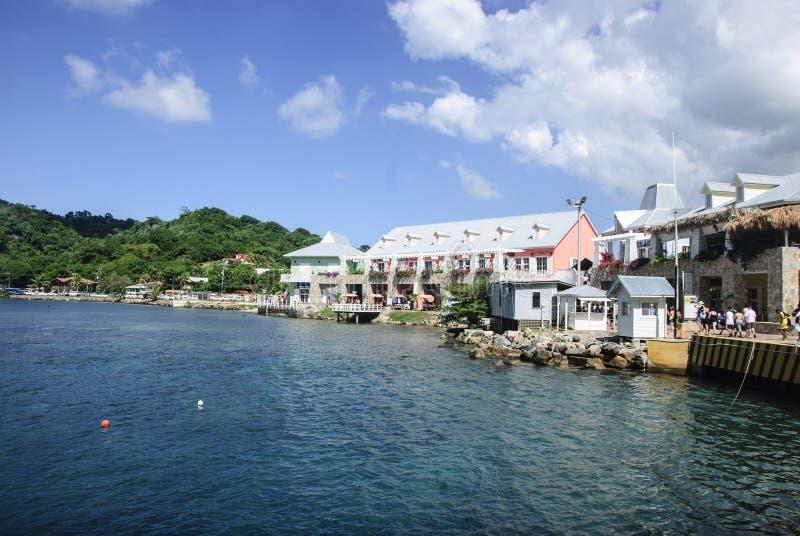 Porto Isla Rotan Honduras do cruzeiro foto de stock royalty free