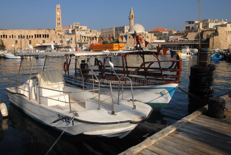Porto Israele di San Giovanni d'Acri Akko fotografia stock libera da diritti