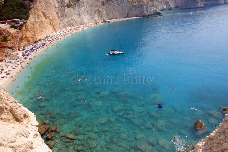 Download Porto Katsiki  beach stock photo. Image of blue, vacation - 20175908