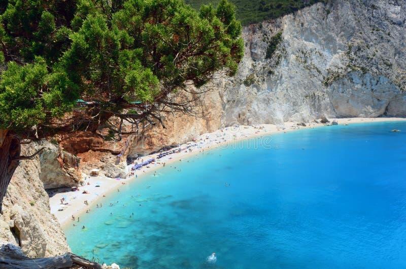 Porto Katsiki beach royalty free stock photography