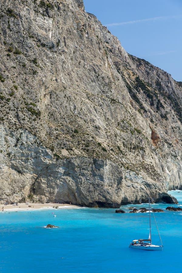 Porto Katsiki Beach, Lefkada, Ionian Islands royalty free stock photos