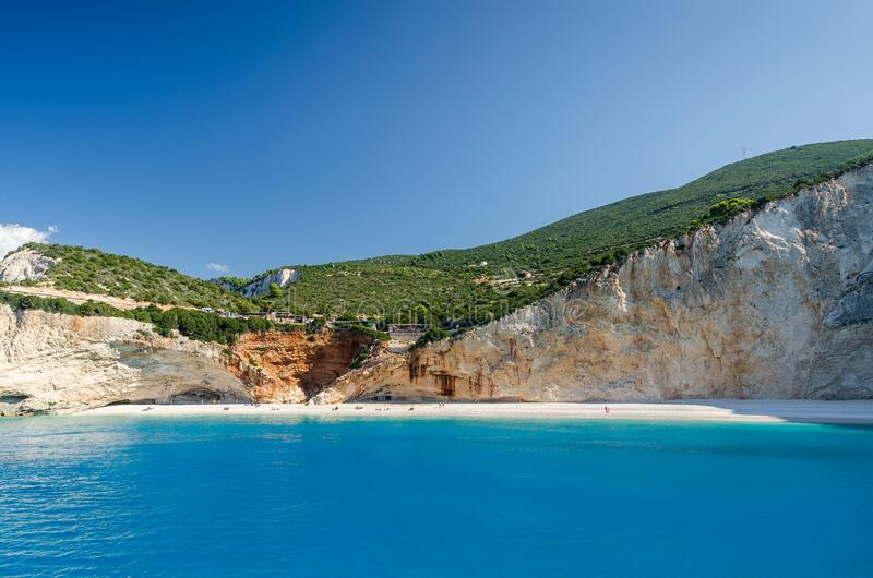 Porto Katsiki beach on Lefkada island, Greece royalty free stock photos