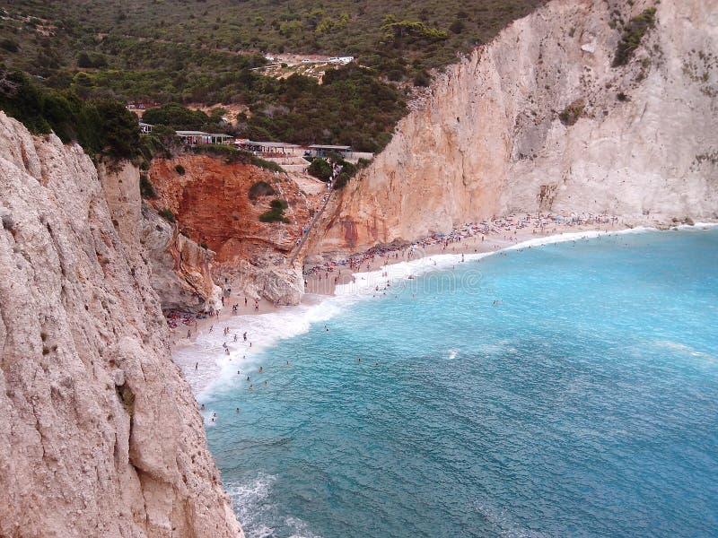 Porto Katsiki Lefkas Eiland Griekenland royalty-vrije stock fotografie