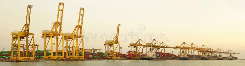 Porto Laem Chabang, Tailândia foto de stock