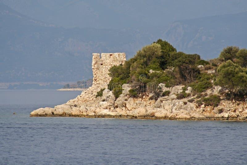 Porto Leone, Griekenland stock afbeelding