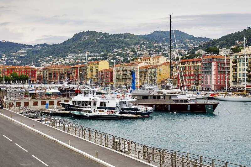 Porto Lympia em agradável, França fotos de stock