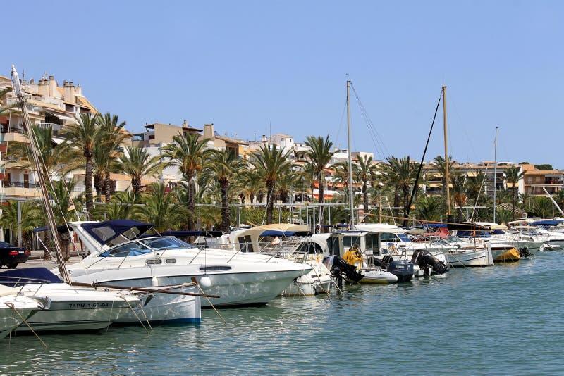 Porto Maiorca di Alcudia fotografia stock libera da diritti