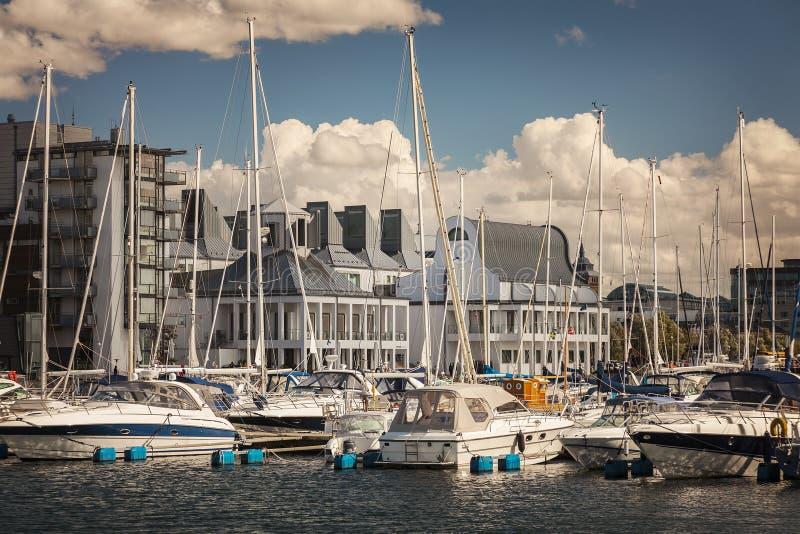 Porto marítimo de Helsingborg imagens de stock royalty free