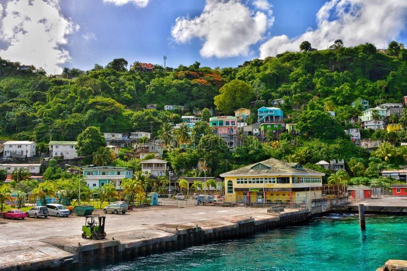 Porto marítimo de Kingstown São Vicente e Granadinas fotos de stock