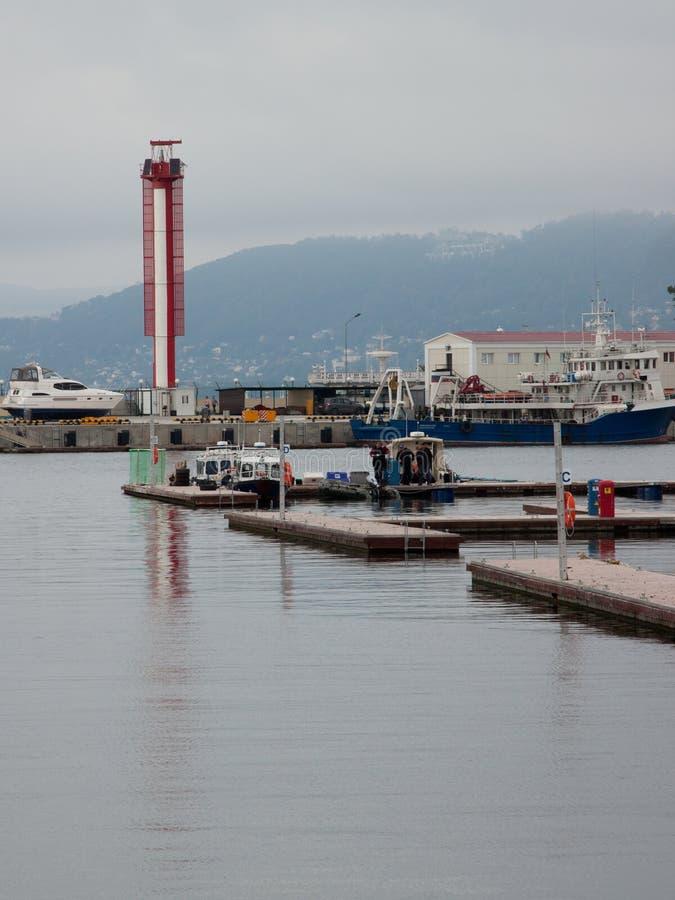 Porto marítimo de Sochi fotografia de stock royalty free