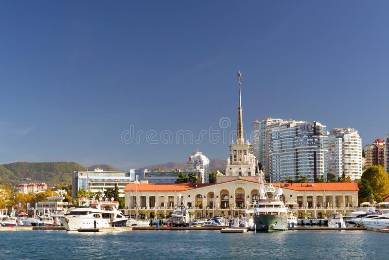 Porto marítimo de Sochi, Rússia imagem de stock royalty free