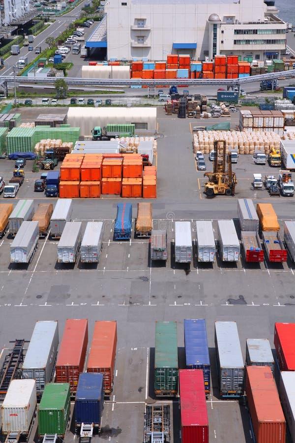 Porto marítimo do Tóquio fotos de stock royalty free