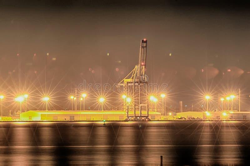Porto marítimo industrial da carga do porto de transporte o r do SC de Charleston fotografia de stock