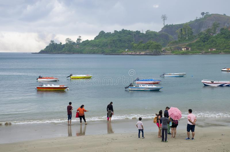 Porto marítimo tropical Blair India da costa da chuva imagens de stock royalty free