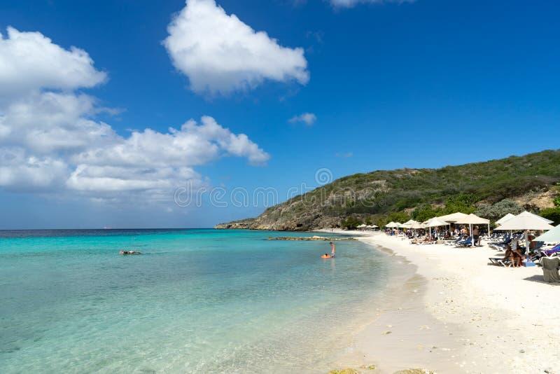 Porto Mari Beach - strandskuggor arkivfoton