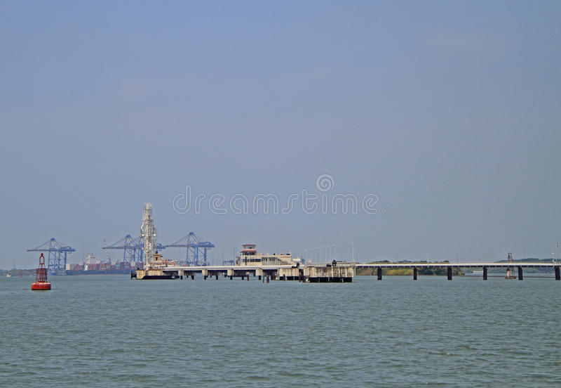 Porto marittimo del Kochi, India fotografia stock libera da diritti