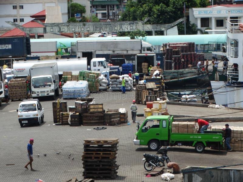 Porto marittimo di Zamboanga, Filippine immagine stock libera da diritti