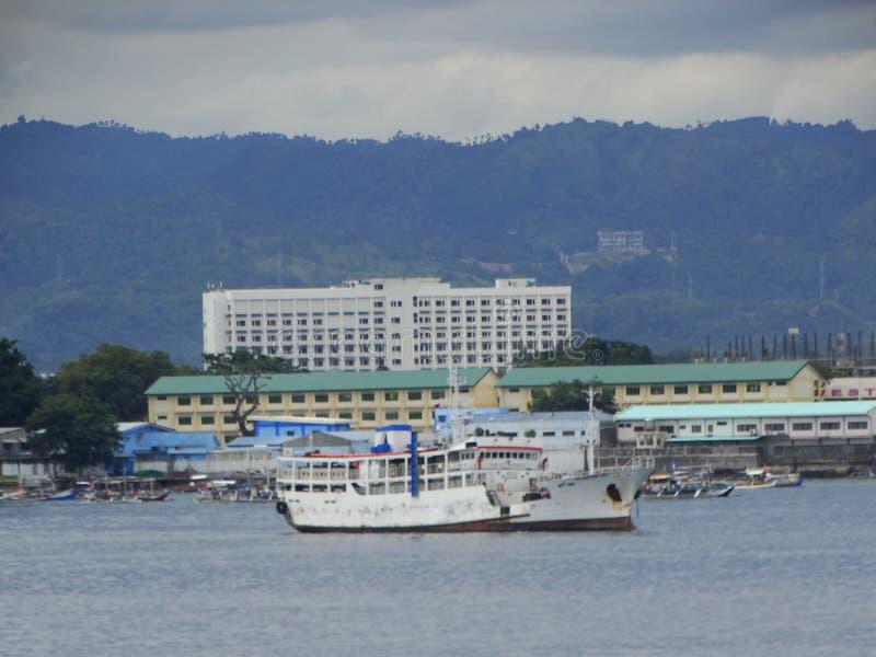 Porto marittimo di Zamboanga, Filippine fotografie stock libere da diritti