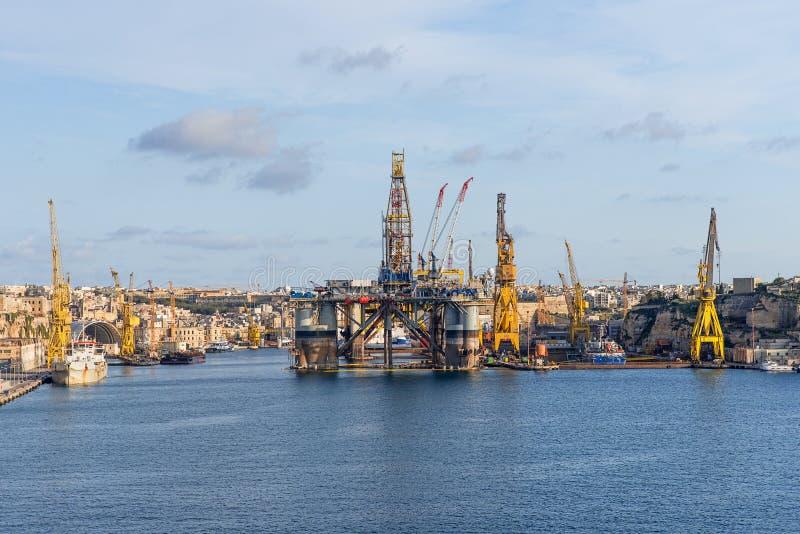 Porto marittimo a Malta fotografia stock