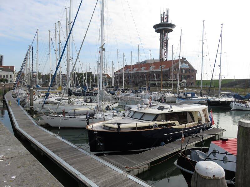 Porto marittimo in Vlissingen, Olanda immagine stock libera da diritti