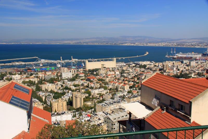 Porto mediterrâneo de Haifa Israel imagens de stock royalty free