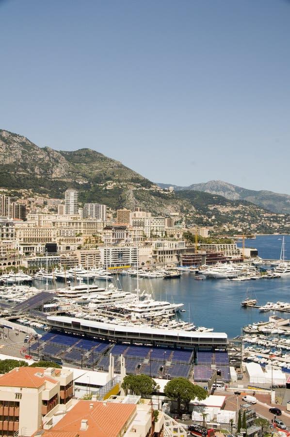 Porto Monaco di Monte Carlo di panorama fotografia stock libera da diritti