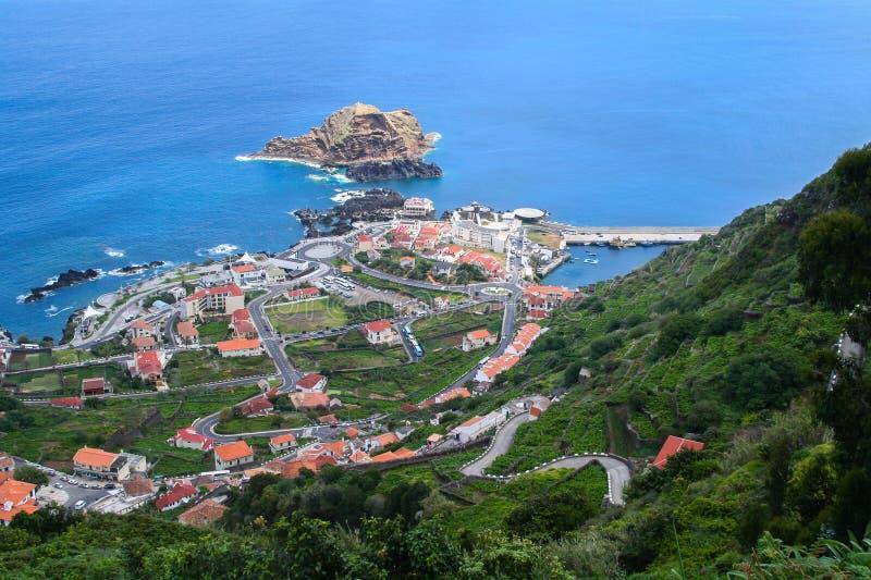 Porto Moniz, madery wyspa zdjęcia stock