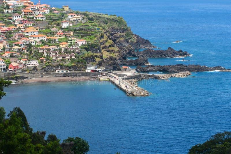 Porto Moniz, madery wyspa obrazy stock