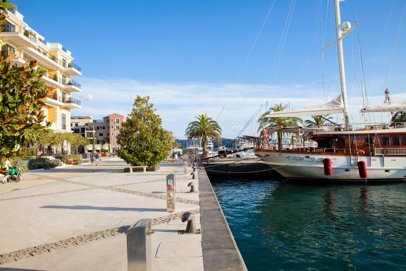 Porto Montenegro in Kotor Bay. stock photo